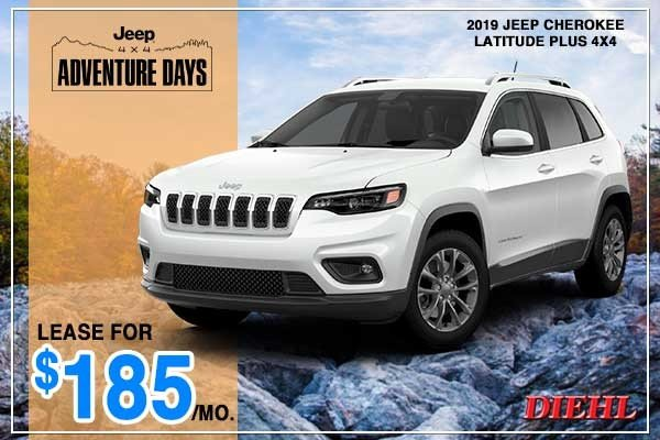 Special offer on 2019 Jeep Cherokee NEW 2019 JEEP CHEROKEE LATITUDE PLUS 4X4