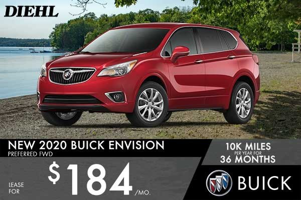 Special offer on 2020 Buick Envision NEW 2020 BUICK ENVISION PREFERRED FWD
