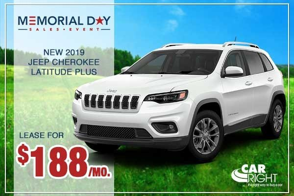 Special offer on 0   NEW 2019 JEEP CHEROKEE LATITUDE PLUS 4X4
