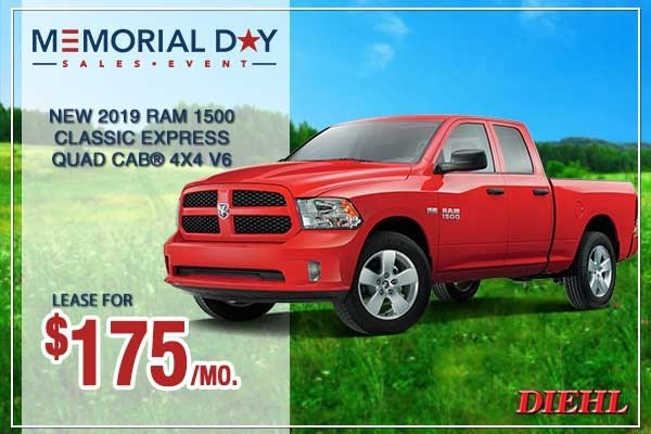 Special offer on 0   NEW 2019 RAM 1500 CLASSIC EXPRESS QUAD CAB® 4X4 6'