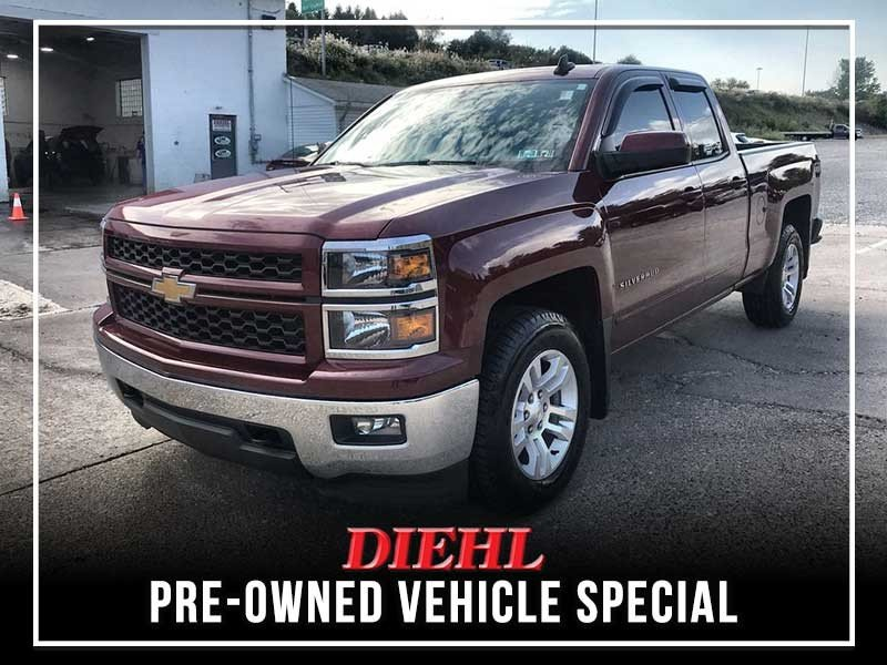 Special offer on 0   PRE-OWNED 2015 CHEVROLET SILVERADO 1500 LT 4WD