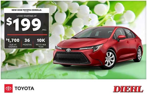 Special offer on 2020 Toyota Corolla NEW 2020 TOYOTA COROLLA LE FWD