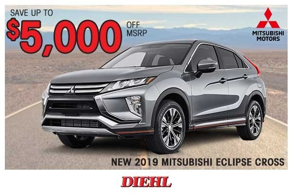 Special offer on 2019 Mitsubishi Eclipse Cross NEW 2019 MITSUBISHI ECLIPSE CROSS
