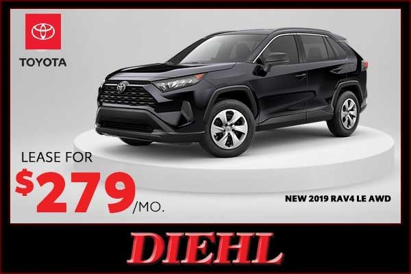 Special offer on 0   New 2019 Toyota Rav4 LE AWD