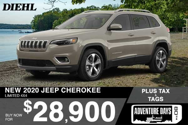 Special offer on 0   NEW 2020 JEEP CHEROKEE LIMITED 4X4