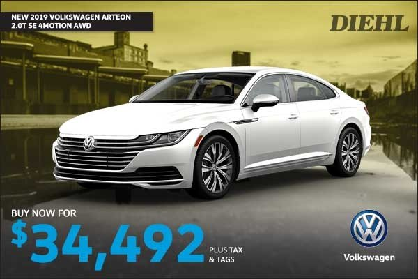 Special offer on 0   NEW 2019 VOLKSWAGEN ARTEON SE 4MOTION AWD
