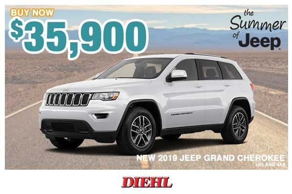Special offer on 0   NEW 2019 JEEP GRAND CHEROKEE UPLAND