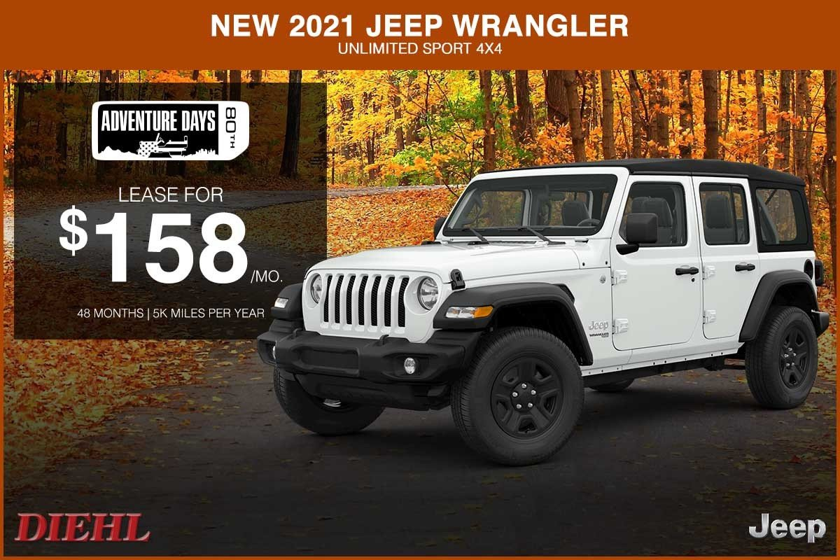 Special offer on 2021 Jeep Wrangler NEW 2021 JEEP WRANGLER UNLIMITED SPORT 4X4