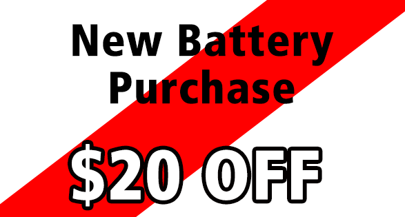 Coupon for $20 off batteries