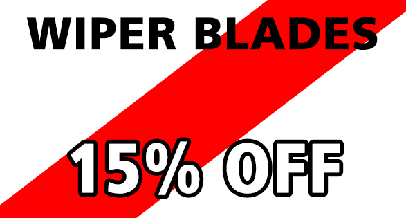 Coupon for WIPER BLADES--15% OFF 15% off all in stock vehicle wiper blades.