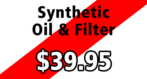 Coupon for SYNTHETIC OIL CHANGE--$39.95 (TOYOTAS ONLY!)