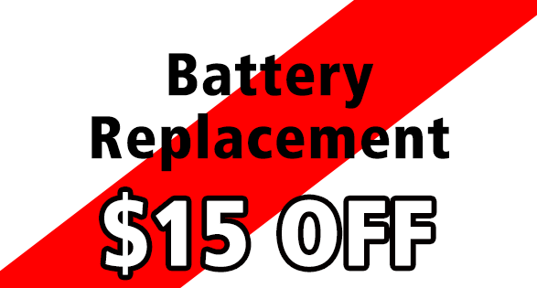 $15 off Battery Replacement