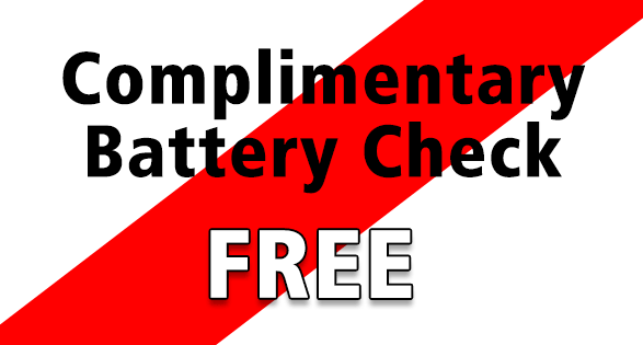 Coupon for Complimentary Battery Check