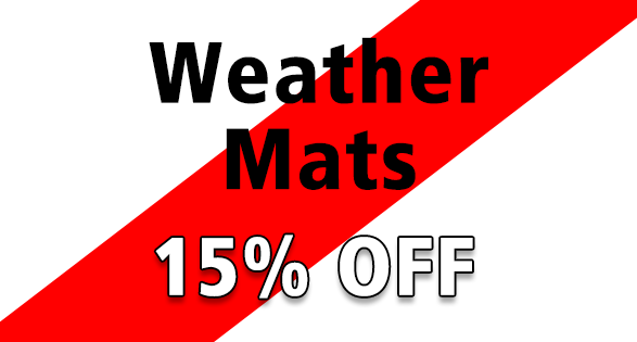 Coupon for Receive 15% off all in stock weather mats.