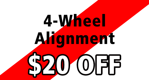 Four Wheel Alignment $10 off