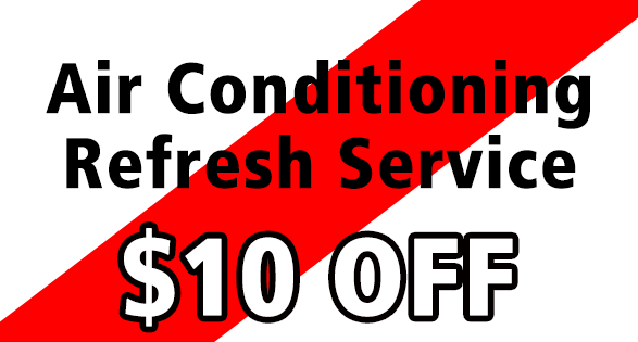 Air Conditioning Refresh Service, $10 off