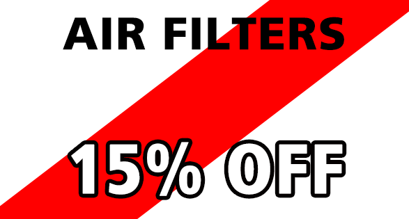 Coupon for AIR FILTERS--15% OFF 15% off all in stock air filters.