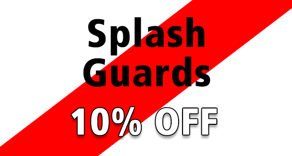 Coupon for 10% on splash guards