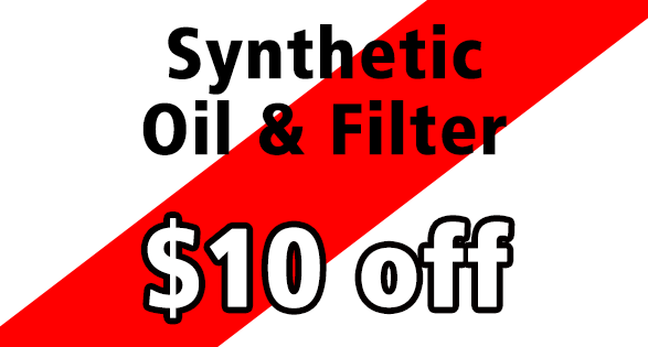 $10 Off Synthetic Oil and Filter Change