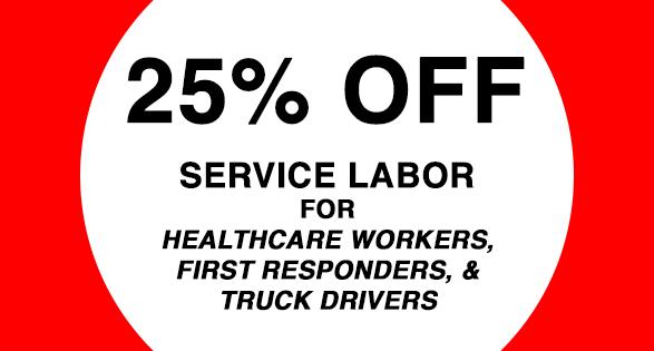 25% off Service Labor