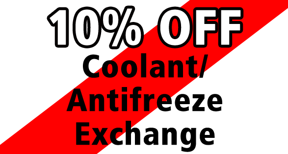 10% Off Coolant/Antifreeze Exchange