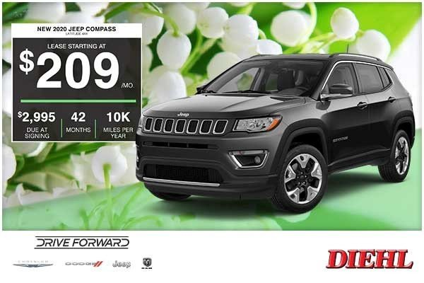 Special offer on 2020 Jeep Compass NEW 2020 JEEP COMPASS LATITUDE 4X4