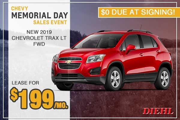 Special offer on 0   New 2019 Chevy Trax LT FWD