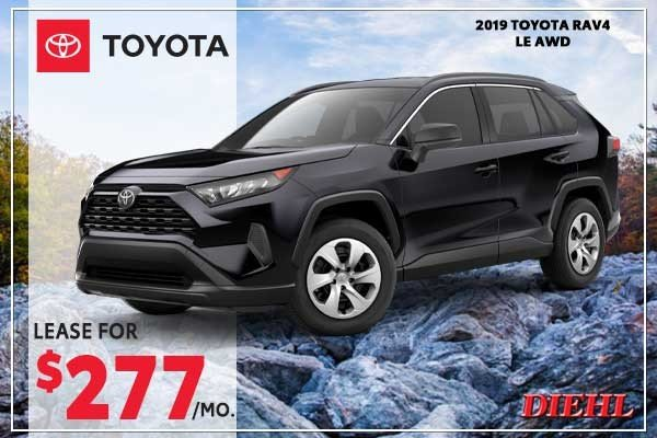 Special offer on 2019 Toyota RAV4 2019 Toyota Rav4 LE AWD