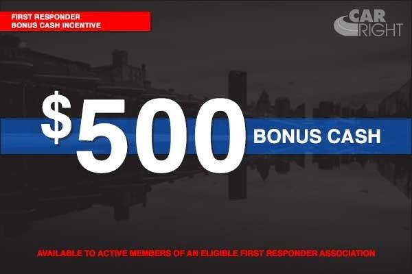 Special offer on 2020 Ram 1500 FIRST RESPONDER BONUS CASH INCENTIVE