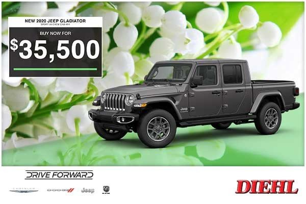 Special offer on 0   NEW 2020 JEEP GLADIATOR SPORT V6 CREW CAB 4×4