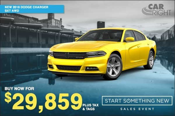 Special offer on 0   NEW 2019 DODGE CHARGER SXT AWD