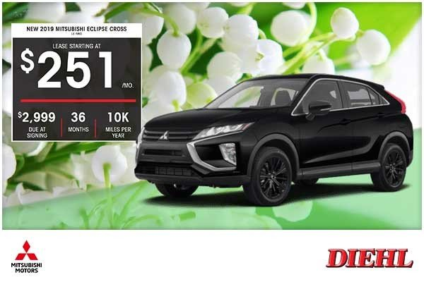 Special offer on 2019 Mitsubishi Eclipse Cross NEW 2019 MITSUBISHI ECLIPSE CROSS LE AWD