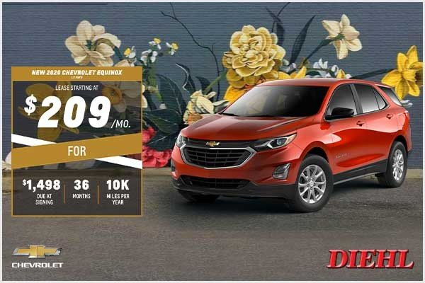 Special offer on 2020 Chevrolet Equinox NEW 2020 CHEVROLET EQUINOX LS AWD