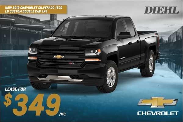 Special offer on 0   NEW 2019 CHEVROLET SILVERADO 1500 LD CUSTOM DOUBLE