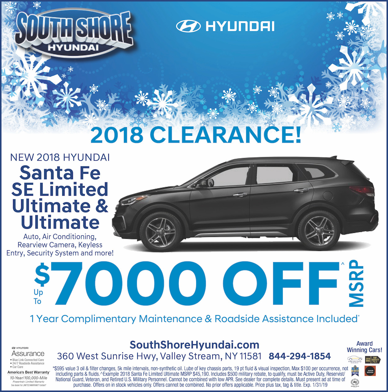 hyundai 2018 clearance offer