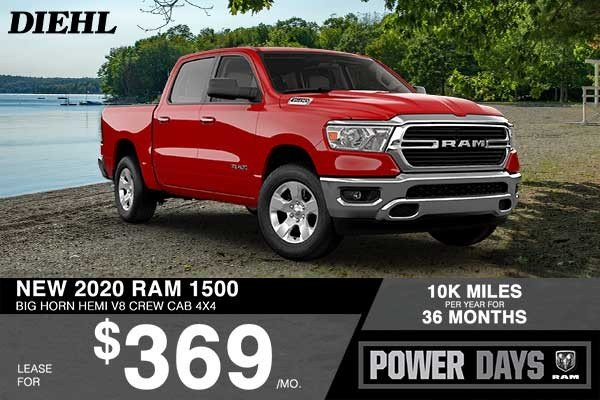 Special offer on 2020 Ram 1500 NEW 2020 RAM 1500 BIG HORN HEMI V8 CREW CAB 4X4