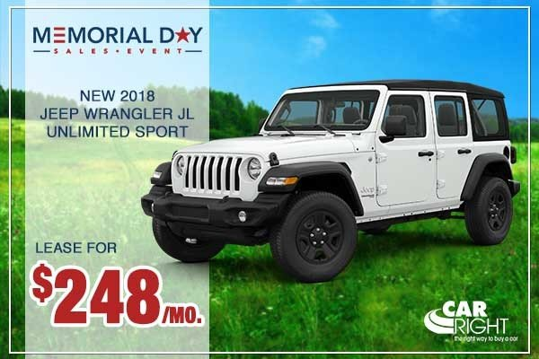 Special offer on 0   NEW 2018 JEEP WRANGLER UNLIMITED SPORT 4X4