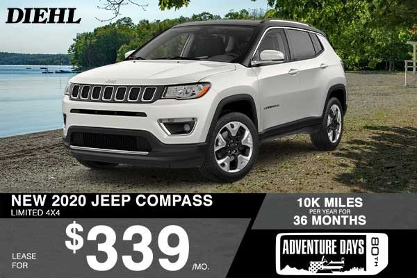Special offer on 2020 Jeep Compass NEW 2020 JEEP COMPASS LIMITED 4X4