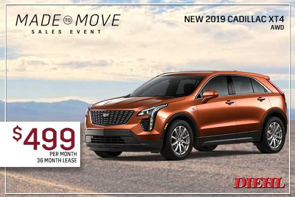 Special offer on 0   NEW 2019 CADILLAC XT4 AWD
