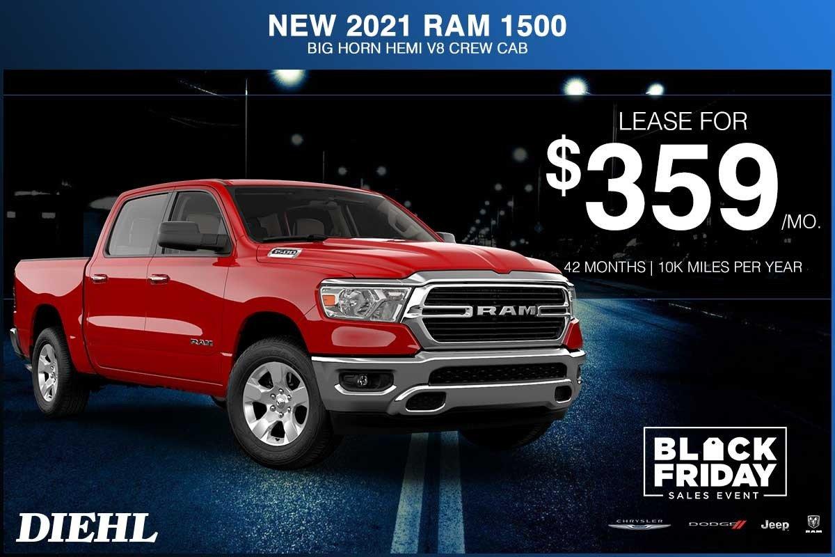 Special offer on 2021 Ram 1500 NEW 2021 RAM 1500 BIG HORN HEMI V8 CREW CAB 4X4