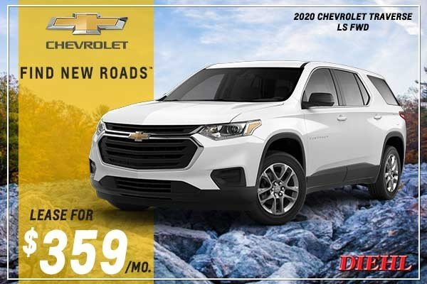 Special offer on 2020 Chevrolet Traverse NEW 2020 CHEVROLET TRAVERSE LS FWD