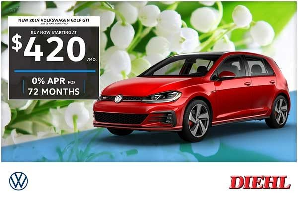 Special offer on 0   NEW 2019 VOLKSWAGEN GOLF GTI 2.0T SE HATCHBACK FWD