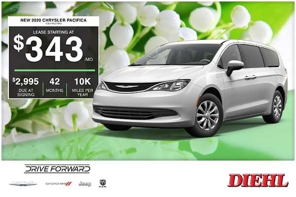 Special offer on 2020 Chrysler Pacifica NEW 2020 CHRYSLER PACIFICA TOURING FWD