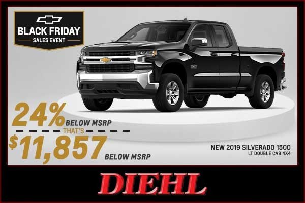Special offer on 2019 Chevrolet Silverado 1500 NEW 2019 CHEVY SILVERADO 1500 LT DOUBLE CAB 4X4