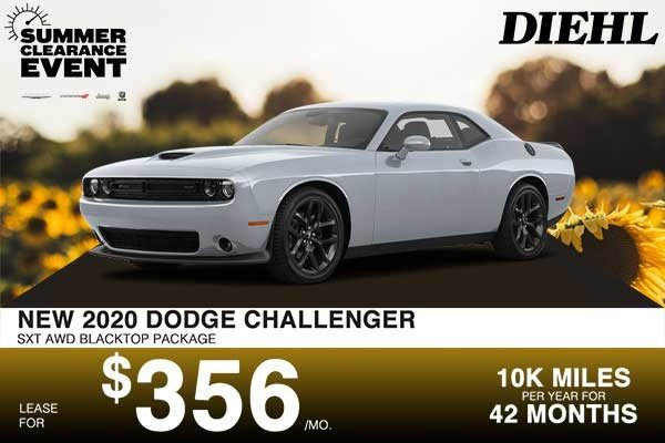 Special offer on 2020 Dodge Challenger NEW 2020 DODGE CHALLENGER SXT AWD BLACKTOP PACKAGE