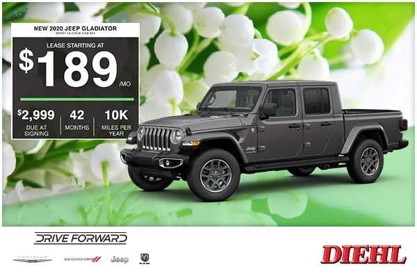 Special offer on 2020 Jeep Gladiator NEW 2020 JEEP GLADIATOR SPORT V6 CREW CAB 4×4