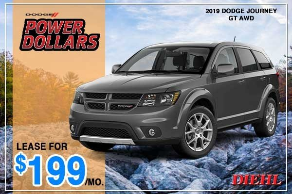 Special offer on 2019 Dodge Journey NEW 2019 DODGE JOURNEY GT AWD