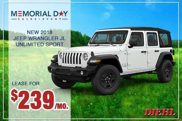 Special offer on 0   NEW 2018 JEEP WRANGLER UNLIMITED SPORT S 4X4