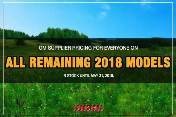 Special offer on 2018 Chevrolet Colorado New 2018 GM Model Year Sale