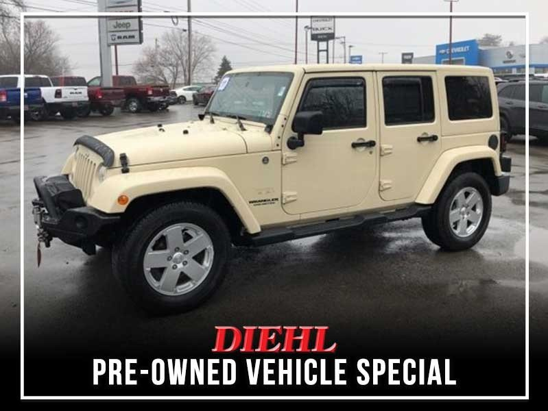 Special offer on 0   PRE-OWNED 2011 JEEP WRANGLER UNLIMITED SAHARA 4WD